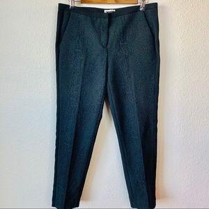 Halogen Black Cheetah Print Quinn Fit Dress Pants